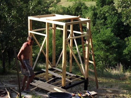 Как построить душ для дачи своими руками фото
