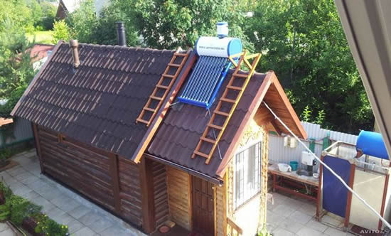 Солнечный водонагреватель для душа